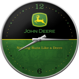 John Deere Nothing runs like a Deere Wandklok 31 cm