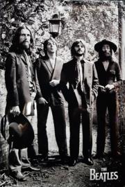 The Beatles 1969.  Metalen wandbord  in reliëf 20 x 30 cm