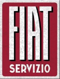 Fiat - Servizio. Koelkastmagneet 8 cm x 6 cm.