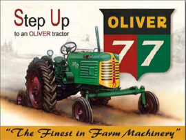 Oliver 77  Metalen wandbord 31,5 x 40,5 cm.