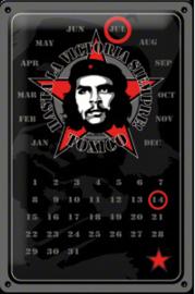 Che Guevara kalender wandbord in reliëf 20 x 30 cm.
