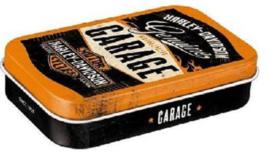Pepermunt doosje Harley Davidson Garage