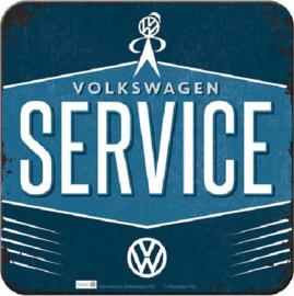 VW Service Onderzetters 9 x 9 cm.  5 stuks.