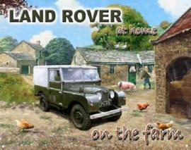 Land Rover on the Farm Metalen wandbord 30 x 40 cm.