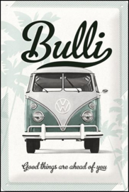 VW Volkswagen Bulli good things  metalen wandbord in reliëf 20 x 30  cm