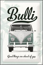 VW Volkswagen Bulli good things metalen wandbordinreliëf 20 x 30 cm