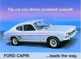 Ford Capri Leads. Metalen wandplaat 41 x 30 cm