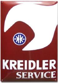 Kreidler Service Sleutel Emaillebord 40 x 60 cm.