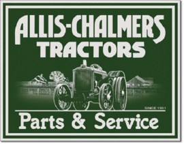Allis Chalmers - P&S Metalen wandbord 31,5 x 40,5 cm.