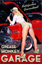Grease Monkey Garage. Metalen wandbord 44,5 x 29,5 cm.