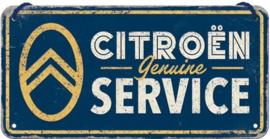 Citroën Service. Metalen wandbord 10 x 20 cm.