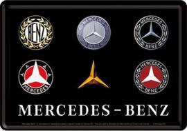 Mercedes-Benz logo  Metalen Postcard 10  x 14 cm.