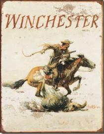 Winchester  Metalen wandbord 31,5 x 40,5 cm.