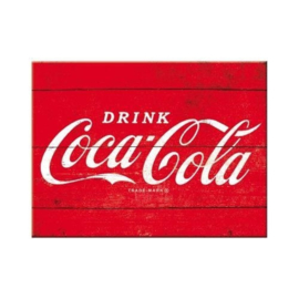 Coca Cola Red Logo. Koelkastmagneet 8 cm x 6 cm.