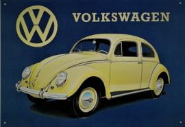 VW Beetle .   Metalen wandplaat 41 x 30 cm