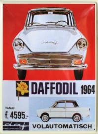 Daffodil 1964 Metalen Postcard 10 x 14,5 cm