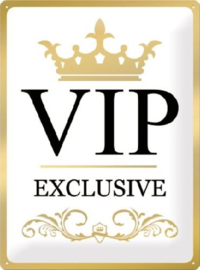 VIP Exclusive Metalen wandbord in reliëf 30 x 40 cm .