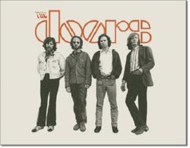 The Doors .  Metalen wandbord 31,5 x 40,5 cm.