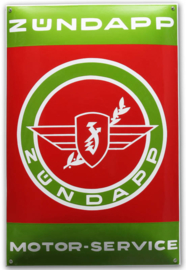Zundapp Motor Service Emaillebord 40 x 60 cm.