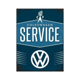 VW Service.  Koelkastmagneet 8 cm x 6 cm.