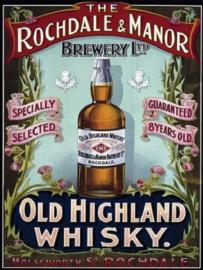 Rochdale & Manor Brewery . Metalen wandbord 30 x 40 cm.