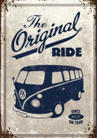 The Original Ride - VW Bulli Metalen Postcard 10 x 14 cm