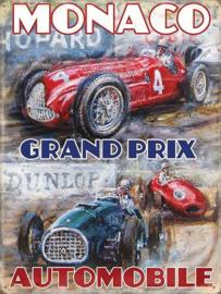Monaco Grand Prix Metalen wandbord 40 x 30 cm.