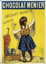 Chocolat Menier Metalen wandbord 40 x 30 cm.