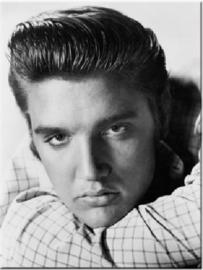 Elvis Presley Portret. Koelkastmagneet 8 cm x 6 cm.