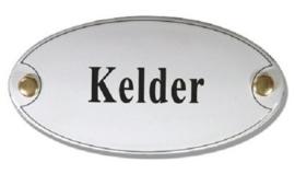 Kelder Emaille Naambordje 10 x 5 cm Ovaal