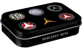 Pepermunt doosje Mercedes Logo's.