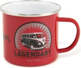 VW Legendary.  Emaille Drinkbeker.