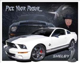 Ford Shelby GT500 Metalen wandbord 31,5 x 40,5 cm.