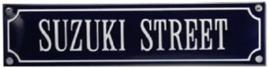 Suzuki Street Emaille bordje.