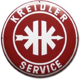 Kreidler Service Emaillebord Ø 50 cm.