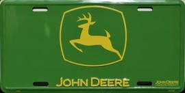 John Deere Logo Aluminium wandbord   in reliëf 15 x 30 cm.