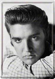 Elvis Presley  Metalen Postcard 10 x 14 cm.