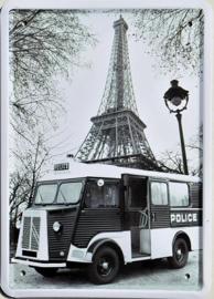 Citroën Camion Police  Metalen Wandbord 15 x 21 cm