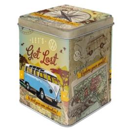 VW Bulli - Let's Get Lost  Theeblik 7.5 x 7,5 x 9.5 cm,