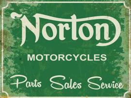 NORTON Motorcycles Metalen wandbord 30 x 40 cm.