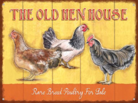 The old hen house Metalen wandbord 30 x 40 cm.
