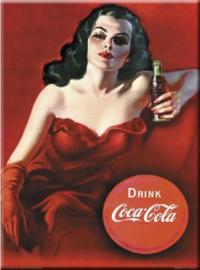 Drink Coca Cola.  Metalen wandbord 30 x 40 cm.