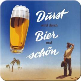 Bier Durst Onderzetters 9 x 9 cm. 5 stuks.
