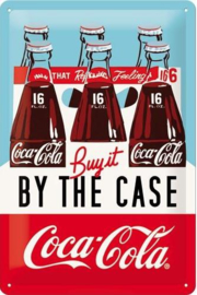 Coca Cola Buy it by the Case Metalen wandbord in reliëf 20 x 30 cm