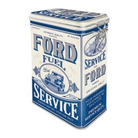 Ford  Fuel Service. Bewaarblik met beugelsluiting  18 x 11 x 8 cm