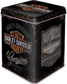 Harley Davidson Genuine Logo.  Theeblik 7.5 x 7,5 x 9.5 cm.