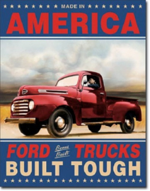Ford Trucks Built Tough Metalen wandbord 31,5 x 40,5 cm.