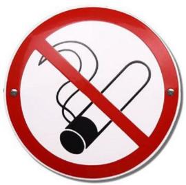 Verboden te roken Emaille bordje ⌀ 20cm.