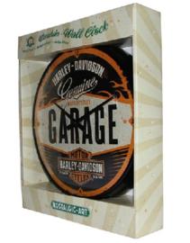 Harley Davidson Garage.  Wandklok 31 cm