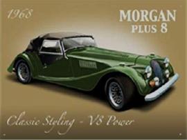 Morgan Plus 8 Metalen wandbord 30 x 40 cm.